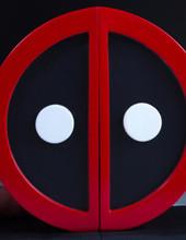 Deadpool Logo Bookend Set