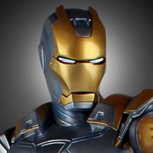 Metropolis Iron-Man Armor Variant Statue Thumbnail 2