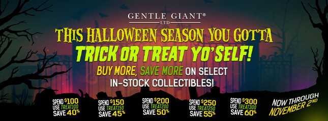 Halloween TRICK OR TREAT YO'SELF Sale!  The more you buy the more you SAVE!