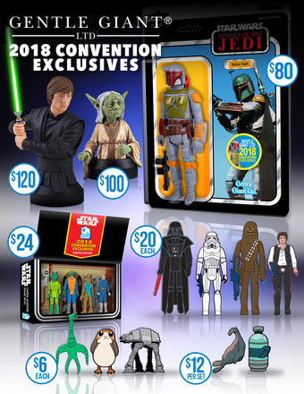 Limited Amounts of our SDCC 2018 Exclusives Avialable to Order
