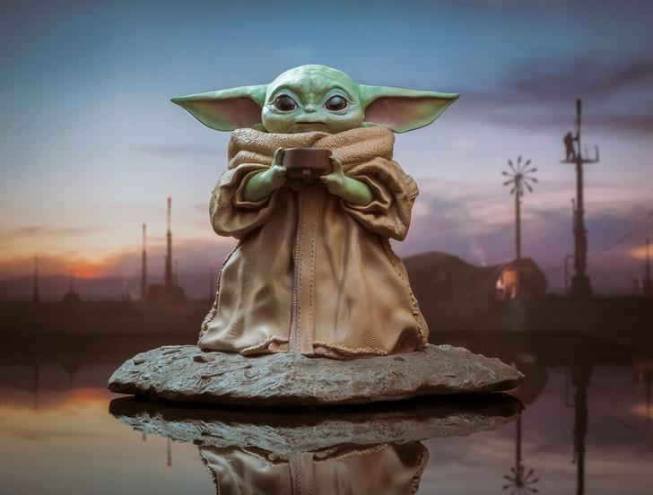 The Child™ with Soup Milestone Statue