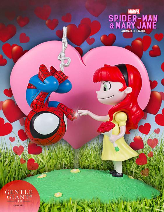Spider-Man & Mary Jane Animated Statue