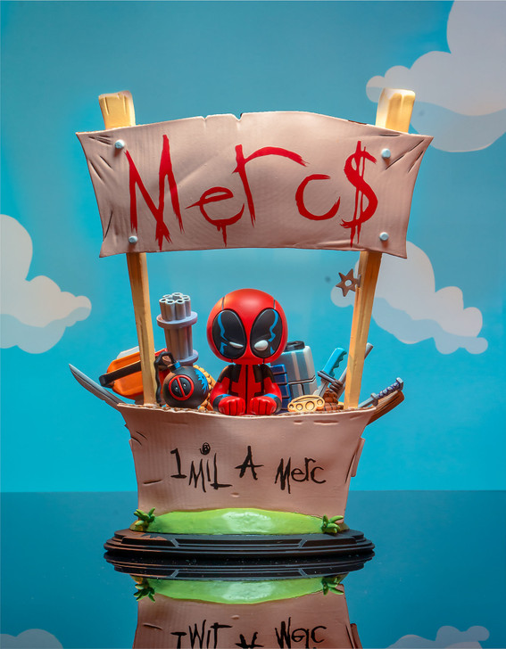Deadpool (Merc for Hire) Animated Statue