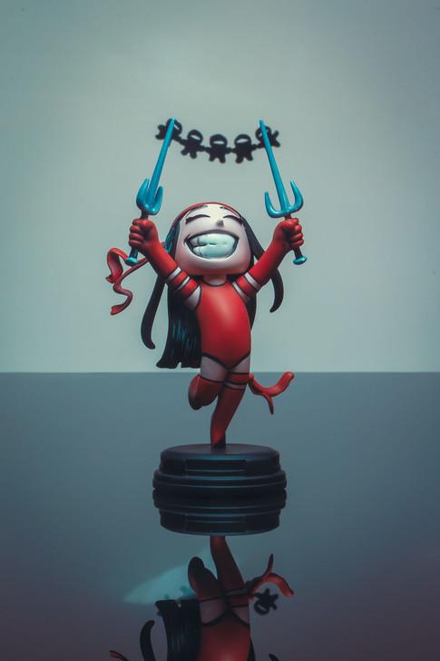 Elektra Marvel Animated Style Statue