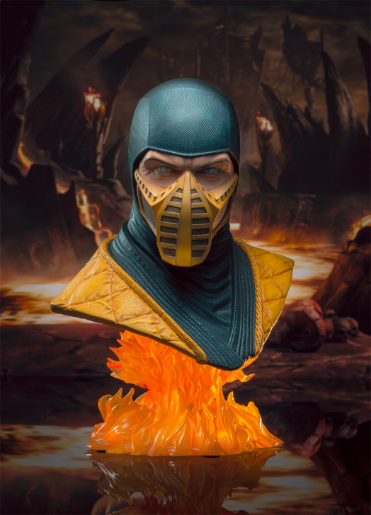 Scorpion Legends in 3 Dimensions Bust