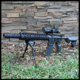 Multi Ported Muzzle Brake Style Barrel Shroud AR 15