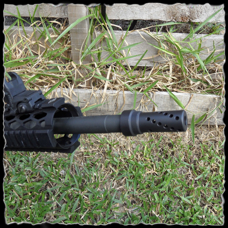 Kineti-Tech 2 Piece Muzzle Brake Twisted Ports with Concussion/Redirector Sleeve