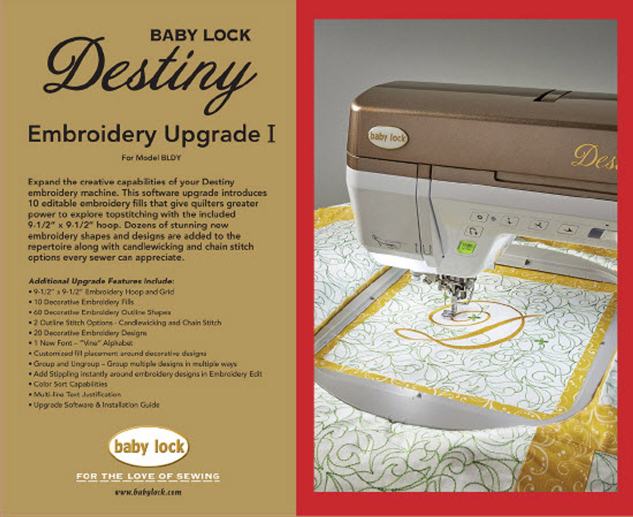 Destiny Embroidery Upgrade I - Phil's Sewing Machines