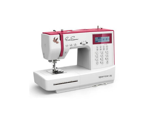 Eversewn Sparrow25 computerized sewing machine sports 197 built-in stitches including an alphabet!  Easy to use features, brings out your best  in your sewing projects.