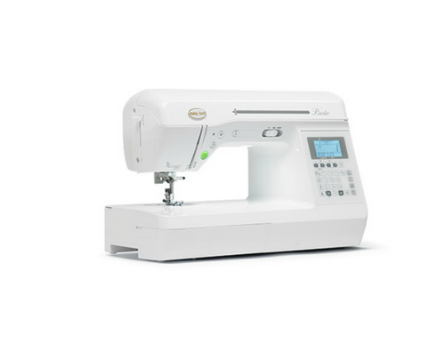 The Baby Lock Presto quilting and sewing machine stitches at an impressive 850 stitch-per-minute pace.