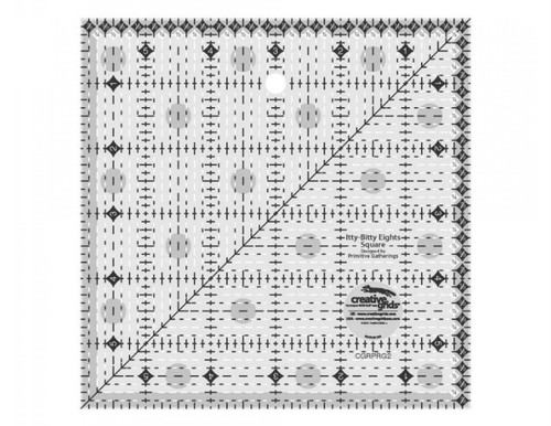 Creative Grids Itty-Bitty Eights Square Quilt Ruler 6in x 6in