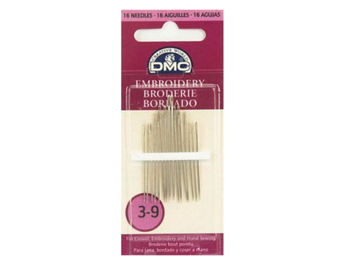 DMC Embroidery Needles Size 3/9