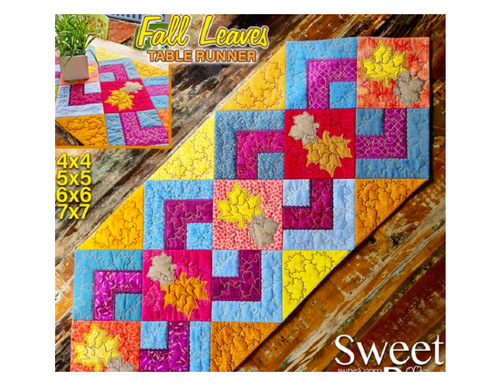 Fall Leaves Quilt Block & Table Runner