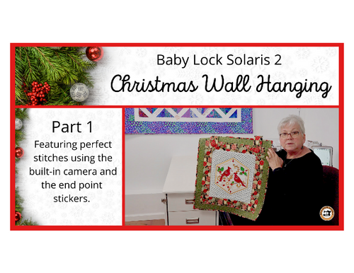 Baby Lock Solaris 2 Christmas Wall Hanging - Part 1