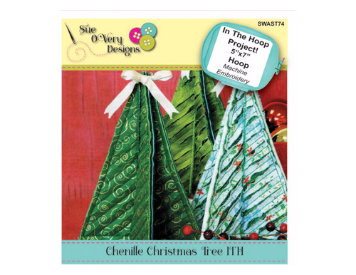 CD Chenille Christmas Tree In the Hoop-Embroidery Design