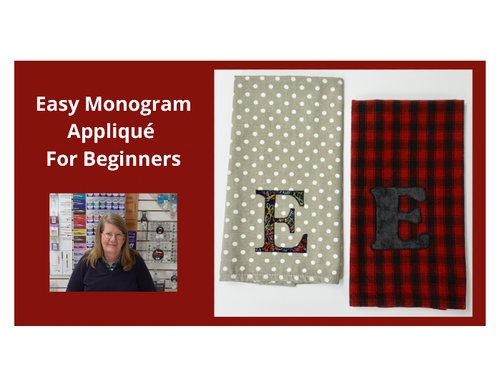 Easy Monogram Appliqué For Beginners