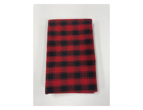 House Check Red and Black Tea Towel