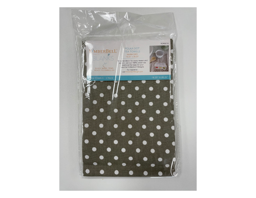 Polka Dot Tea Towels - Warm Grey
