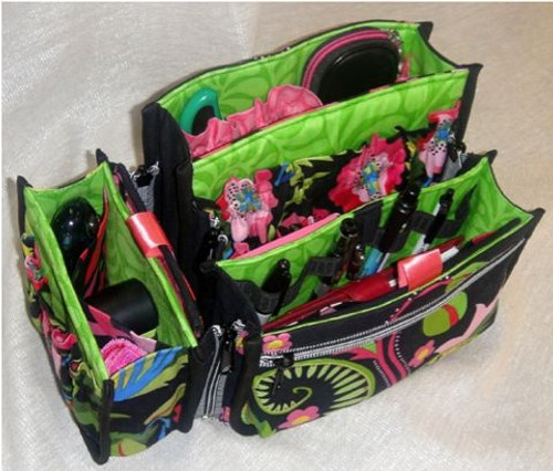Purse Insert pattern with one-of-a-kind Zip On & Off insert modules!