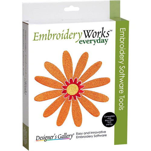 EmbroideryWorks Everyday provides embroiderers with a toolbox filled with all the essential design editing functions needed to create beautiful embroidery.
