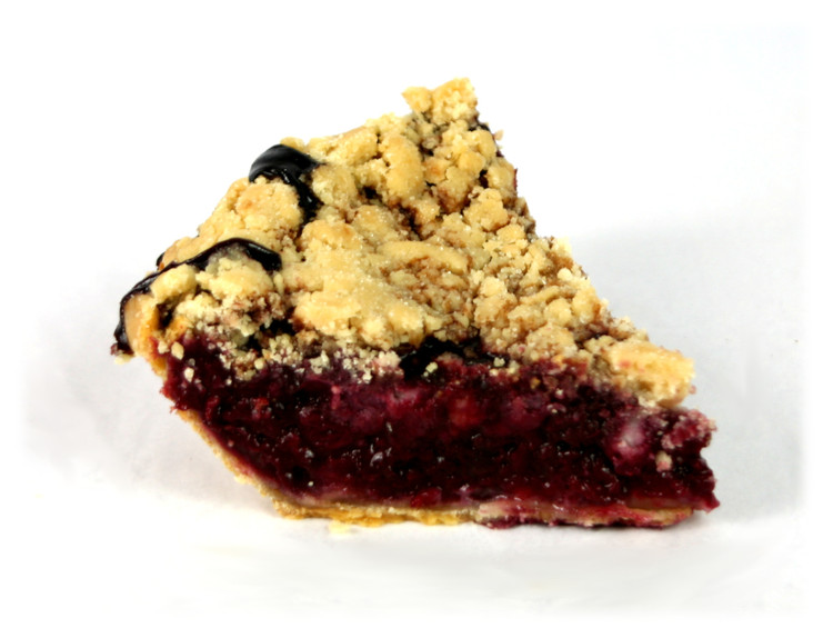 Raspberry-Blackberry Crumble Pie