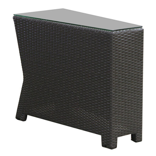 Cabo Wedge End Table w/ Glass