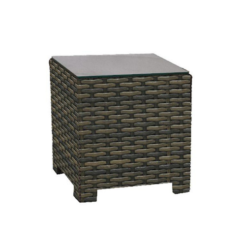 Lakeside Square End Table w/ Glass