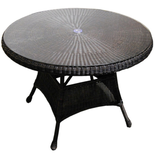 """42"""" Wicker Dining Table"""