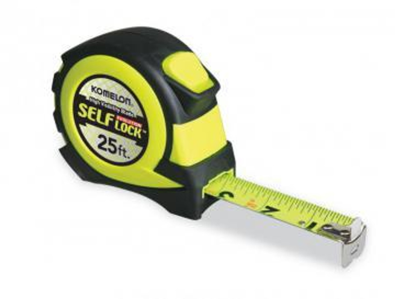 25' Tape Measure. Self Lock Evolution, Nylon Coated Steel Blade.