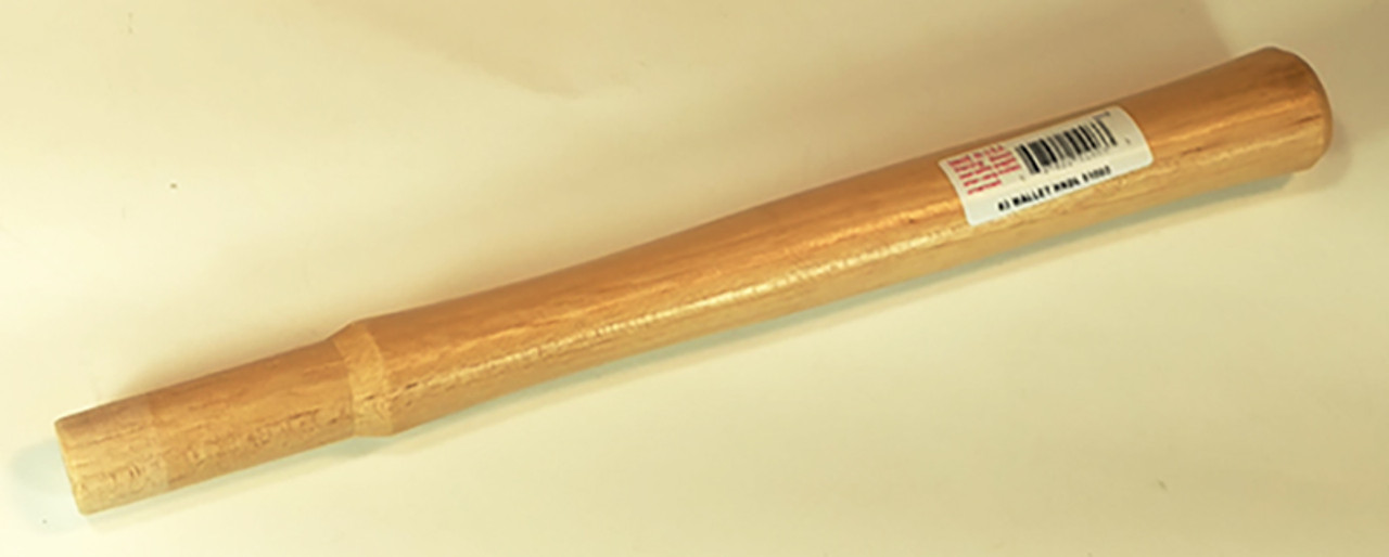 """Garland Replacement handle for #3 Rawhide, Plastic & Wood Mallets, 12"""", 3/4"""" round eye."""
