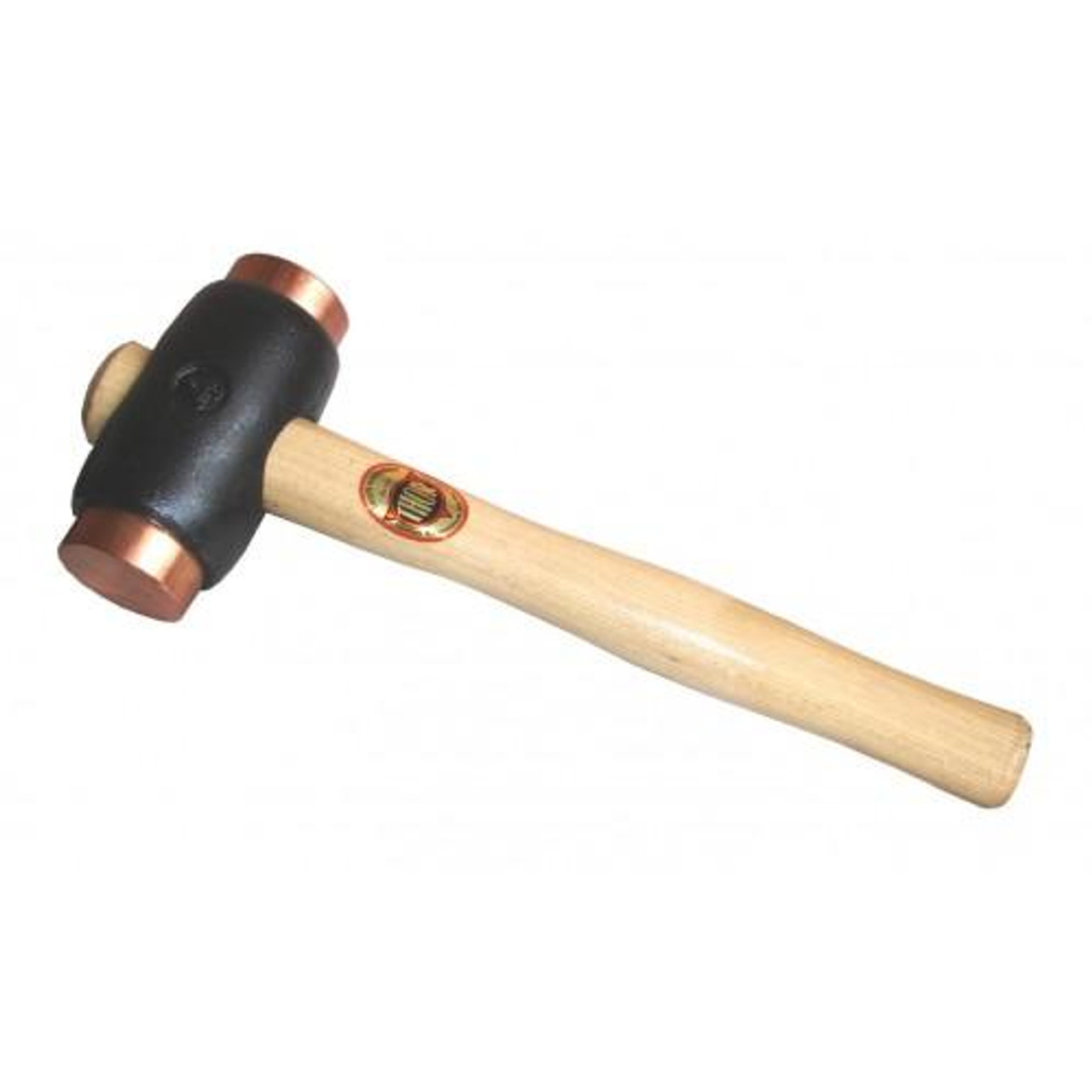 "Thor 04-316 Iron hammer with 2"" copper faces, 6 1/2 lbs. 12"" wood handle."