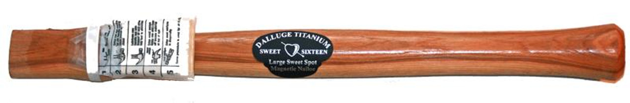 """Dalluge 3100 19"""" Straight Hickory Replacement handle."""