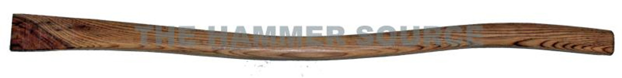 """34"""" replacement handle for 01201 Track Adze, reverse wedge rectangle eye. Handle end dimension 2 1/8"""" x 1 1/2"""""""