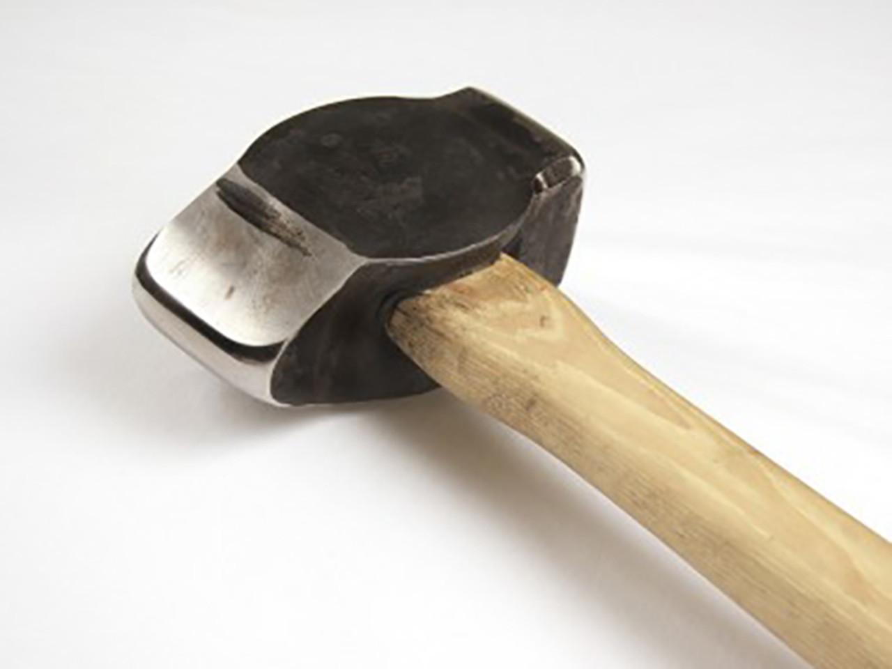 Big Blu 2.6 lb. Straight Pein Hammer, Hand-Forged, wood handle.