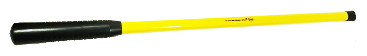 "Nupla 32"" Fiberglass handle, Rubber Grip, .966"" by .742""."