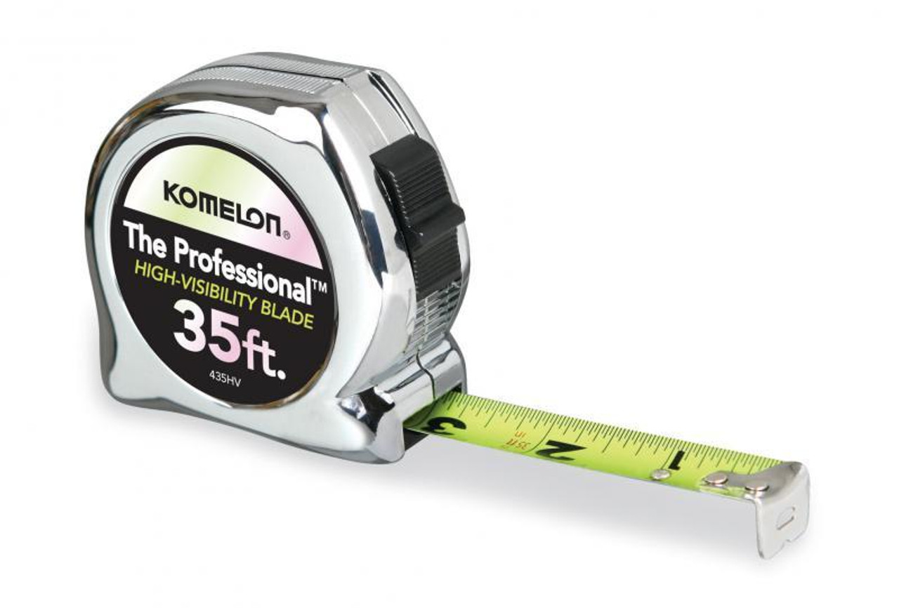 The Professional Tape Measure, Chrome Nylon Coated Steel Blade 35' x 1""