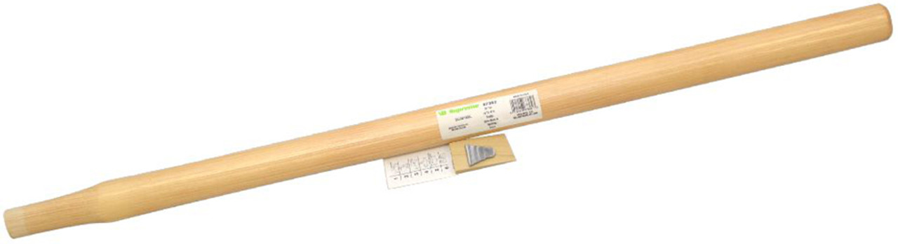 """Vaughan 36"""" straight handle for 16lb Sledge Hammer and Oval Eye Woodchopper Mauls, oval eye 1 3/8"""" x 1"""""""