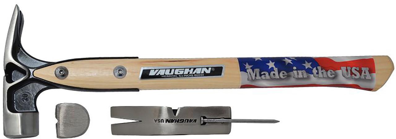 Vaughan VW20P 20 oz. Douglas Pattern framing hammer, SMOOTH face.