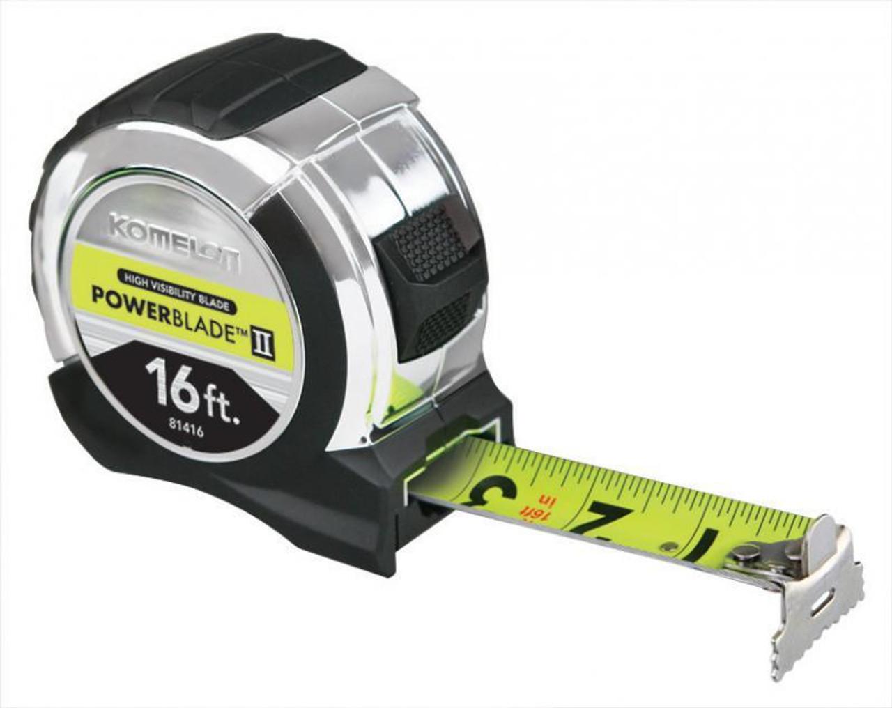"""16' Powerblade II Tape Measure, Coated Steel Blade 16' x 1.06"""""""