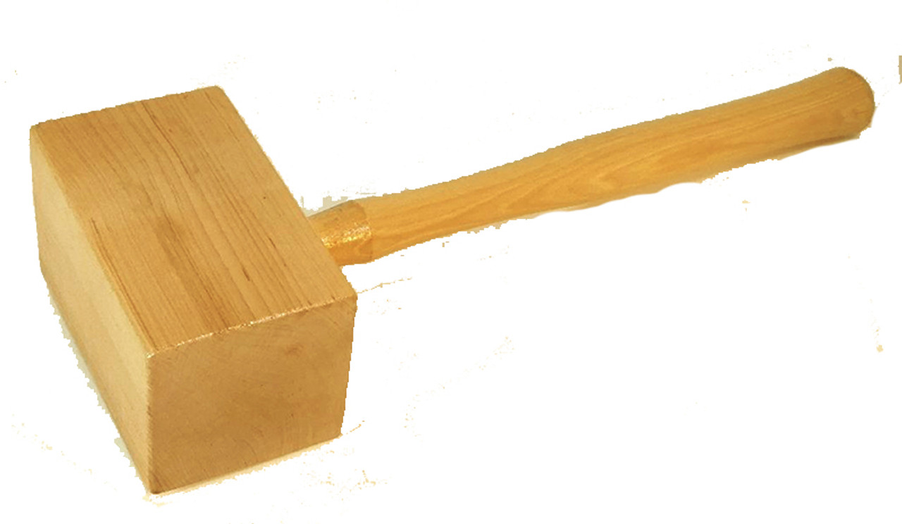 """TH12006SQ 3 1/2"""" Square Solid Wood Mallet"""