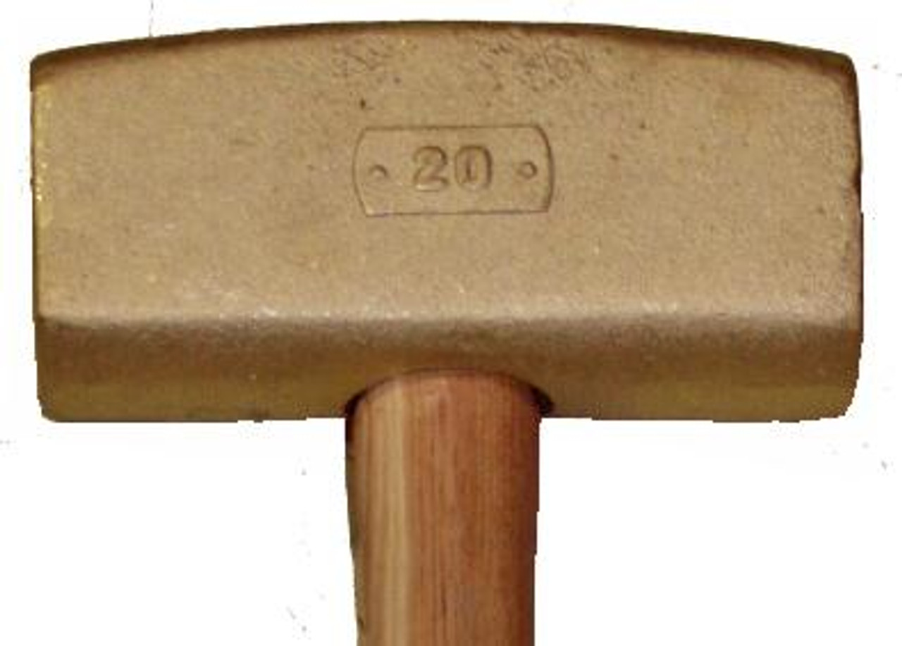 """20 lb Brass Sledge Hammer with 36"""" wood handle"""
