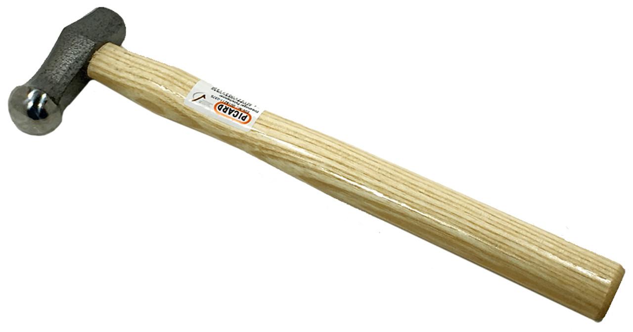 Picard 375gm (13oz) Polishing, single domed face 30mm, Wood handle