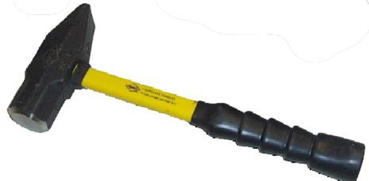 """Nupla 3lb Cross Pein Hammer, 14"""" Super Grip fiberglass handle"""