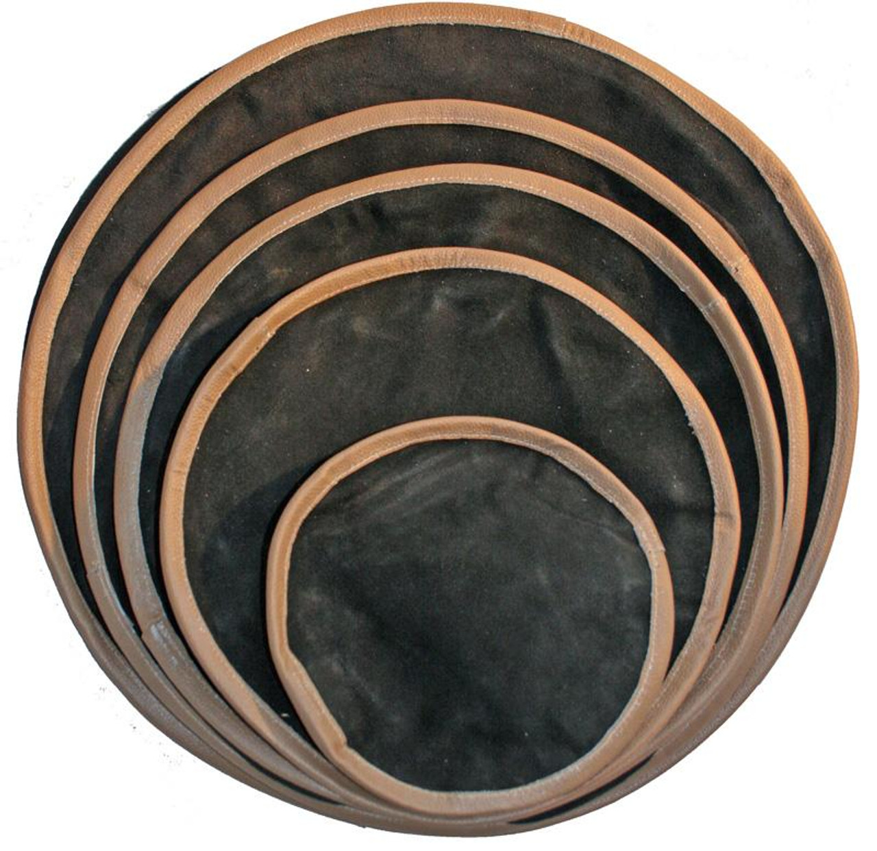 """12"""" Round Leather Shot Bag (unfilled) for metalworking."""