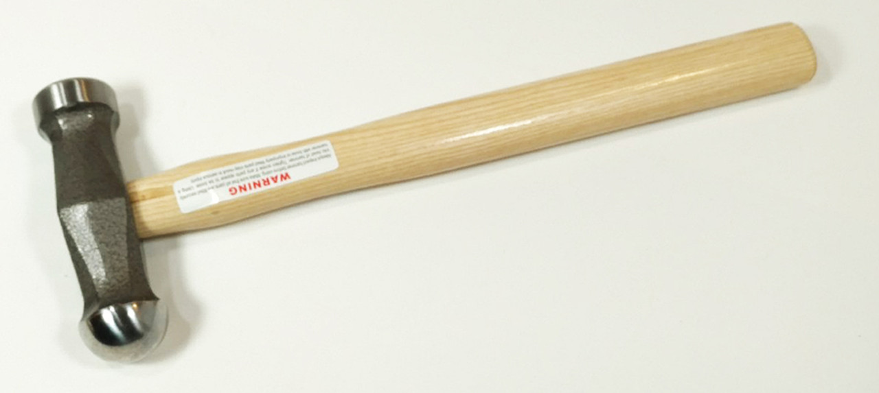 Picard 750 gm Polishing Hammer, 35mm domed face, 35mm flat face, wood handle.