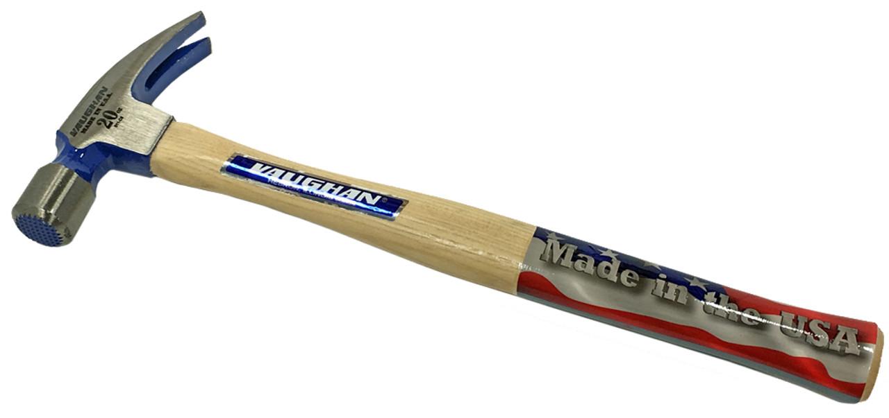 Vaughan 999ML 20 oz Framing Hammer, milled face.