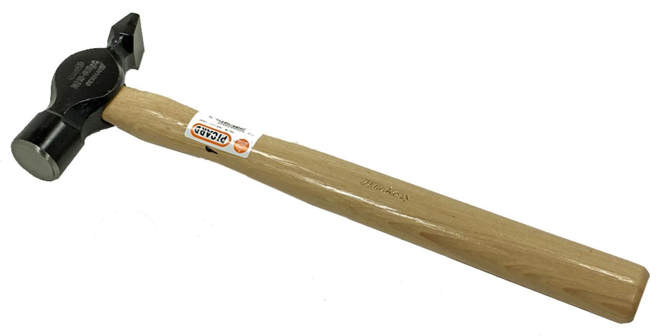 Picard Engineers Cross Pein Hammer, 500 gm (1.1 lbs.), wood handle.