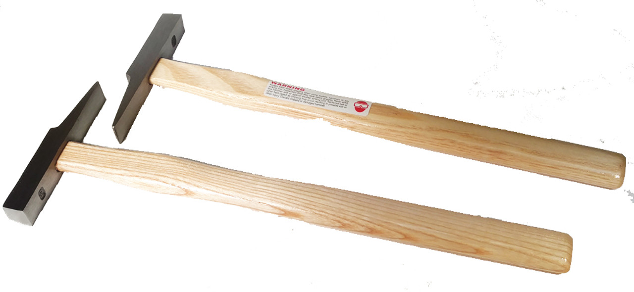 Picard 21401 170 gm Glazier's Hammer, Trapezoidal face, wood handle.