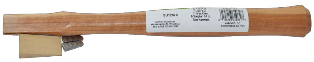 """Vaughan 61072 12"""" straight handle, rectangle (adze) eye 3/4"""" by 3/8"""""""