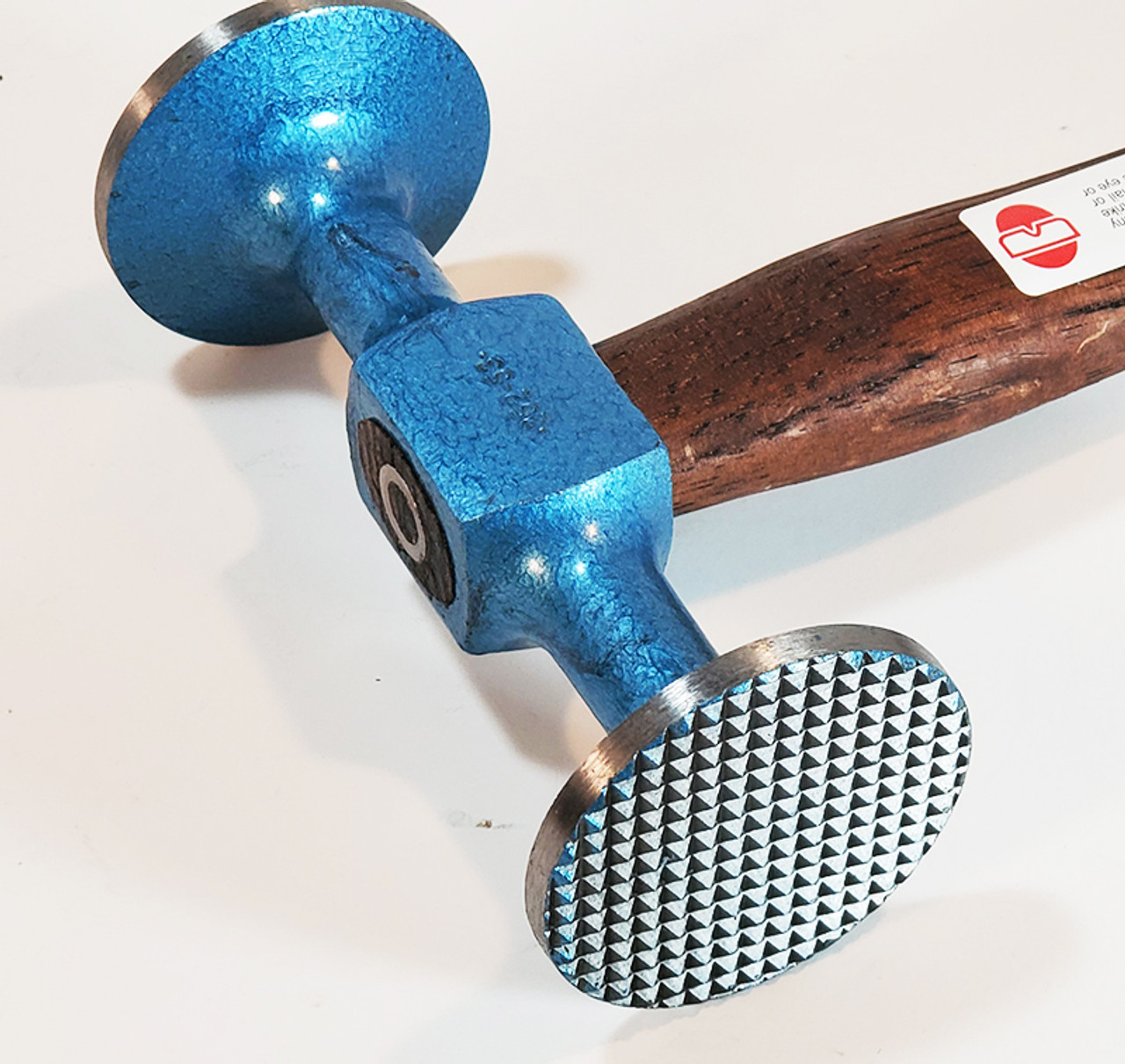 Picard 2525302 Shrinking Hammer, 500gm (18oz), extra wide faces - 47mm round smooth face and 47mm round checked face.